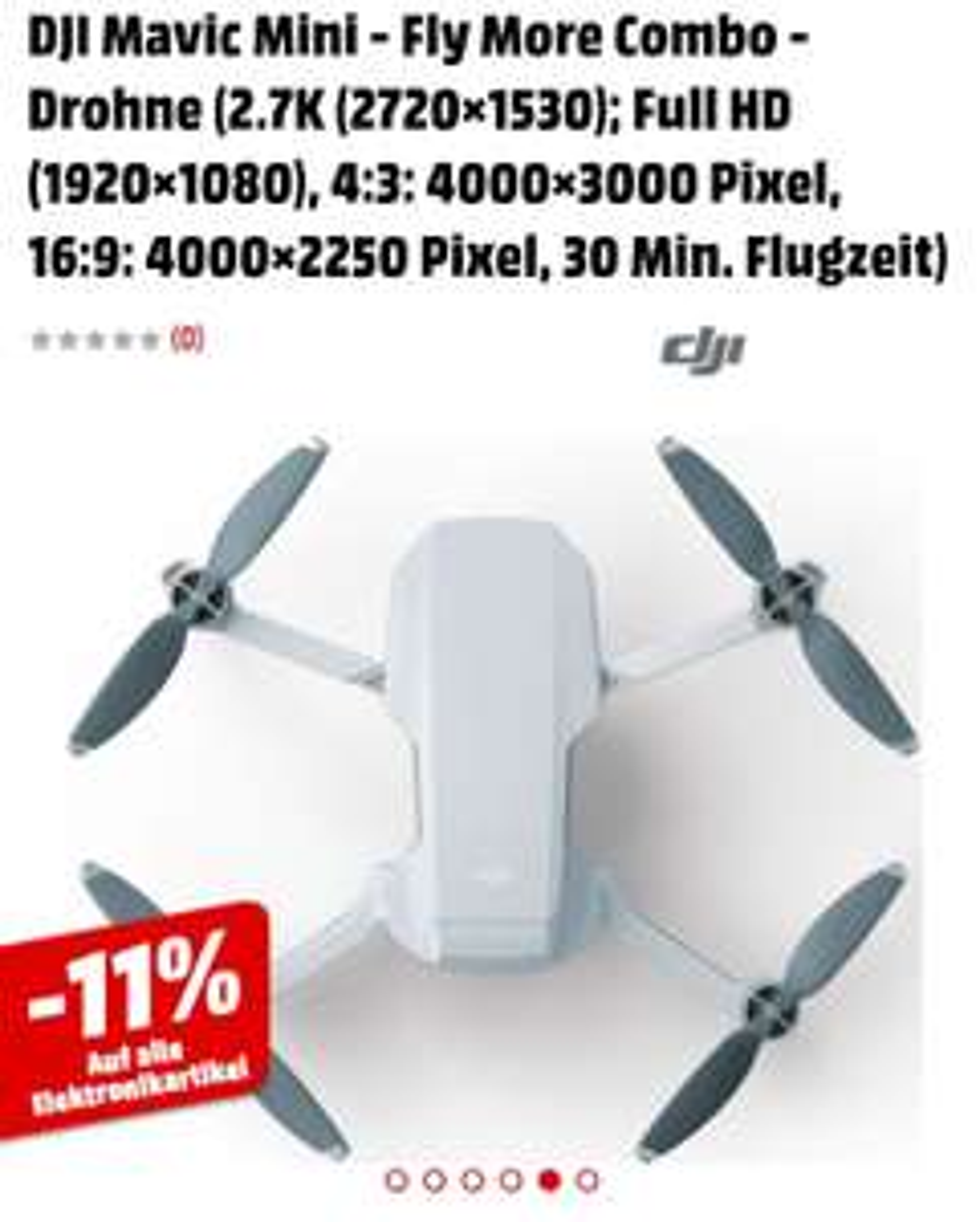 [Media Markt Schweiz] DJI Mavic Mini - Fly More Combo - Drohne