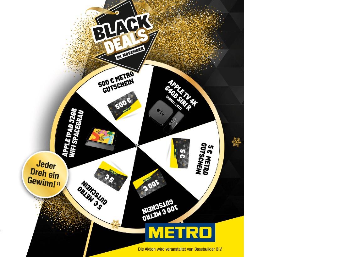 [Metro Glücksrad] Mindestens 5€ Einkaufsgutschein bei 10€ Mindesteinkauf