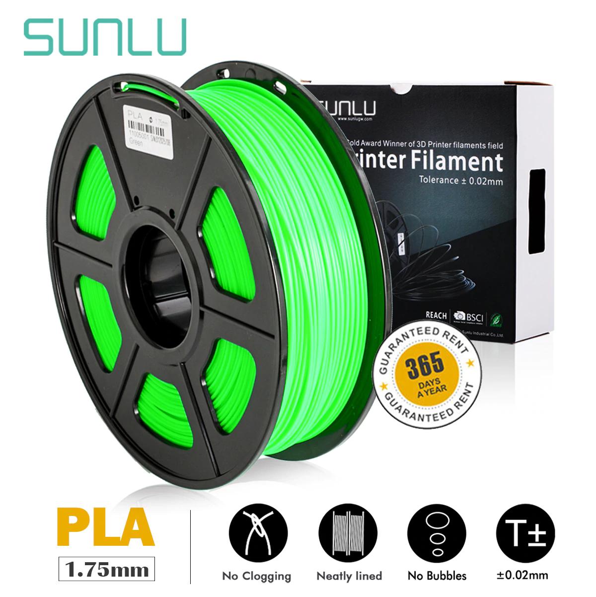 Sunlu Filament PLA / PETG / ABS / TPU 1kg ab 13,49 € - Versand aus Deutschland
