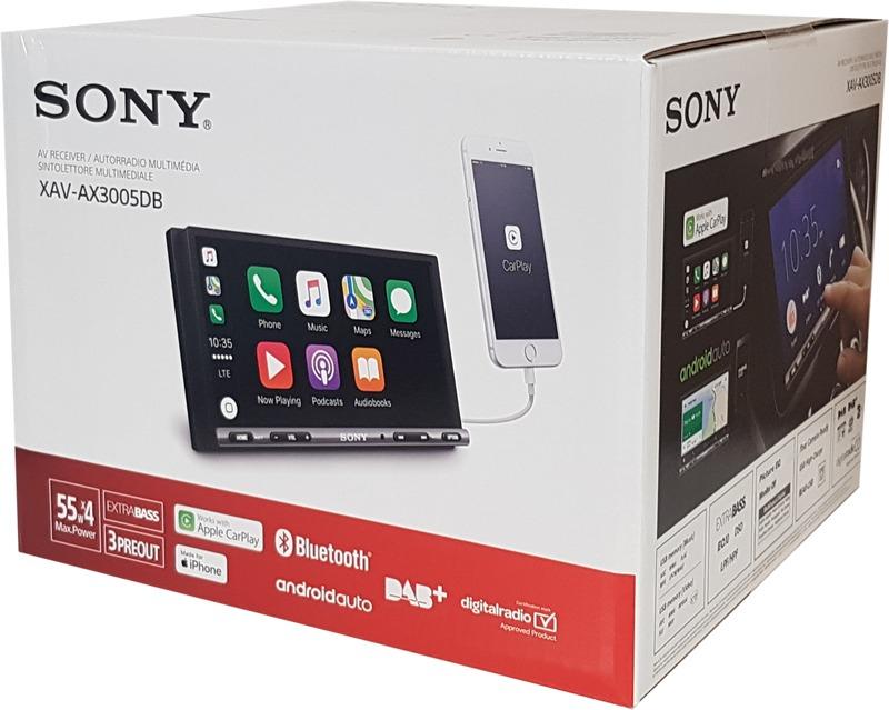Sony XAV-AX3005DB - Premium Media Receiver (6,95 Zoll, DAB+, Bluetooth, Apple CarPlay, Android Auto)