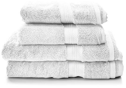 Amazon Prime Tagesangebot: PINZON Handtücher-Set, Pima-Baumwolle (2 Badetücher + 2 Handtücher) 650 g/qm
