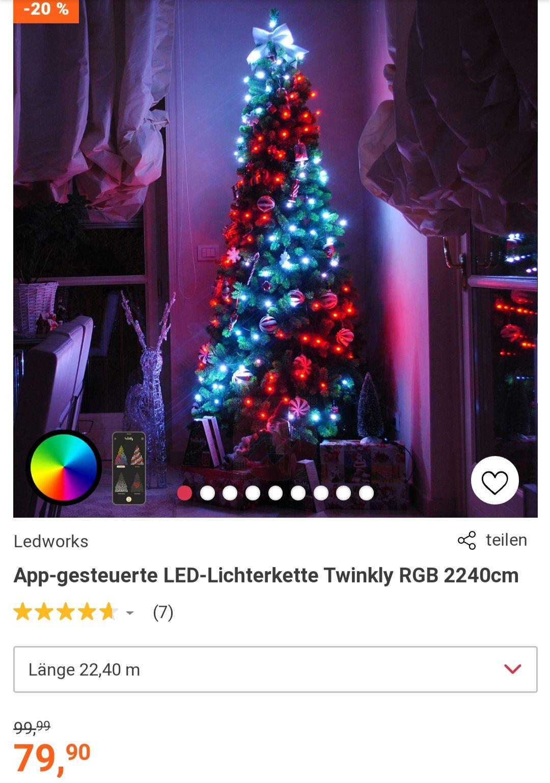 App-gesteuerte LED-Lichterkette Twinkly RGB 1040cm von Ledworks