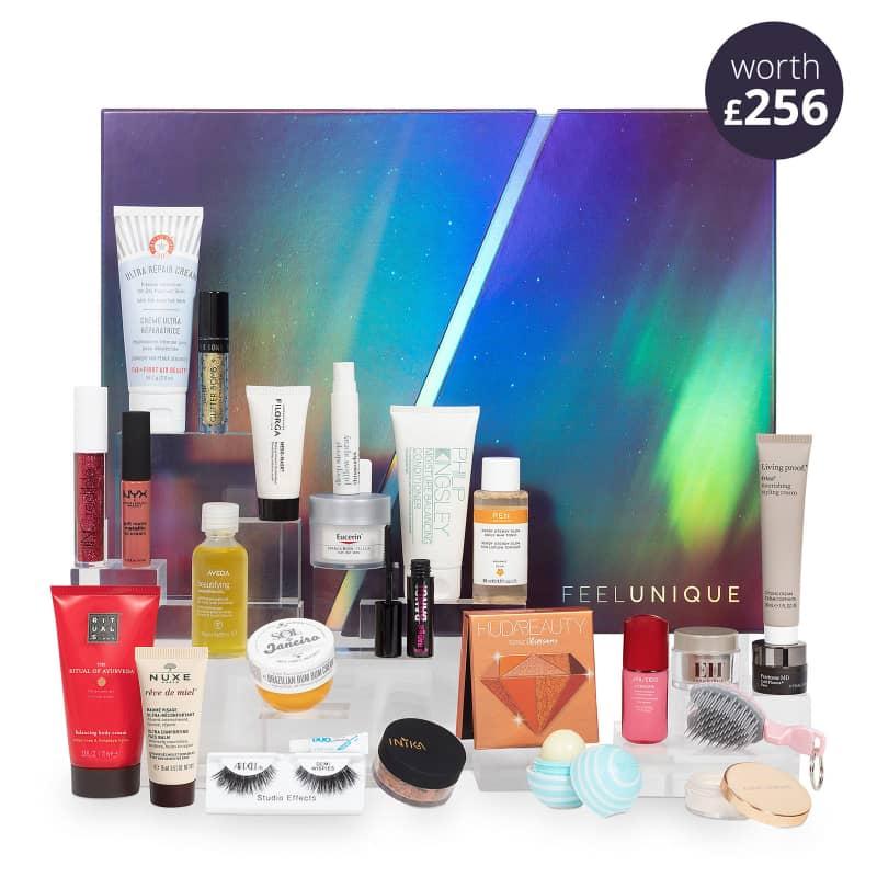 Feelunique Beauty-Adventskalendar mit Warenwert von mind. 129,35€ + Mystery-Produkt