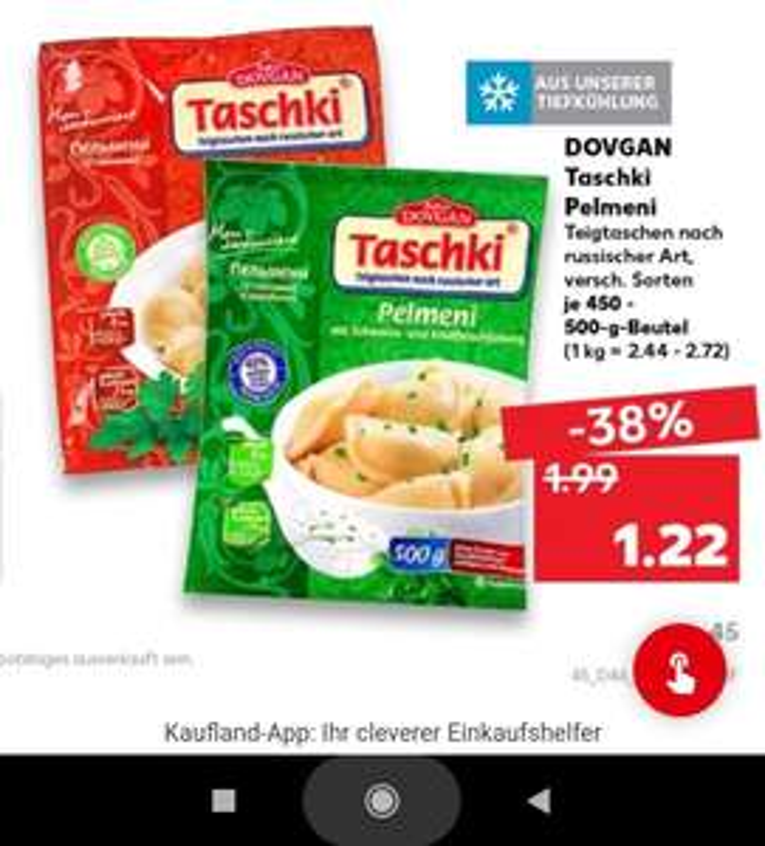 [Kaufland] Ab 18.11.: Taschki Pelmeni zum neuen Bestpreis