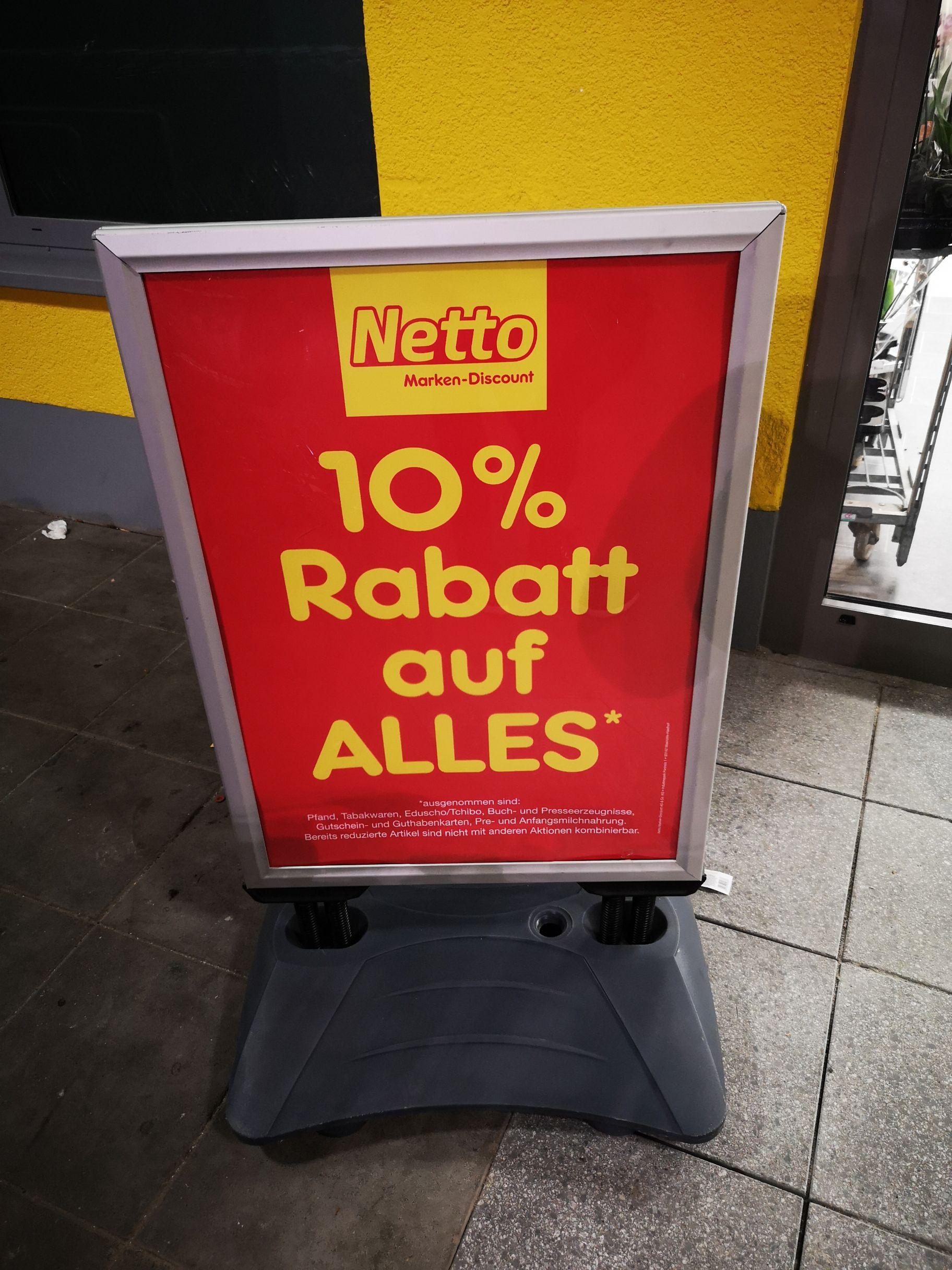 Netto Berlin Marienfelde Neueröffnungsrabatt