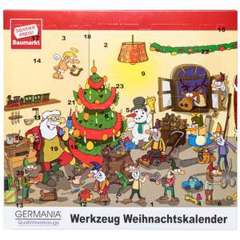 Germania Adventskalender mit Werkzeug 65-teilig