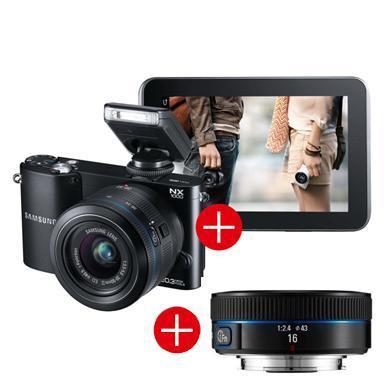 Systemkamera NX1000 + Galaxy Tab 2 7.0 WiFi 8GB + EXTRA Ultraweitwinkelobjektiv (Wert 200€)