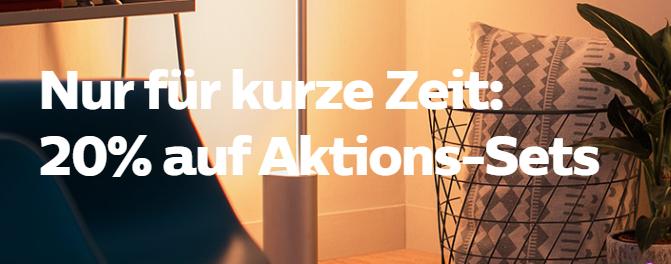 20% Rabatt auf Philips HUE Aktions-Sets beim Kauf von 2 Produkten
