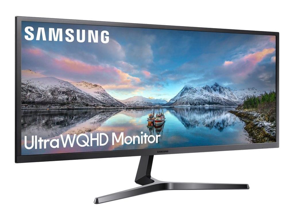 """Samsung LS34J550WQU - SJ55W Series - LED - 75hz - 86.7 cm (34.1"""") 3440 x 1440 Ultra WQHD - VA - 300 cd/m² - 3000:1 - 4 ms-2HDMI, DisplayPort"""