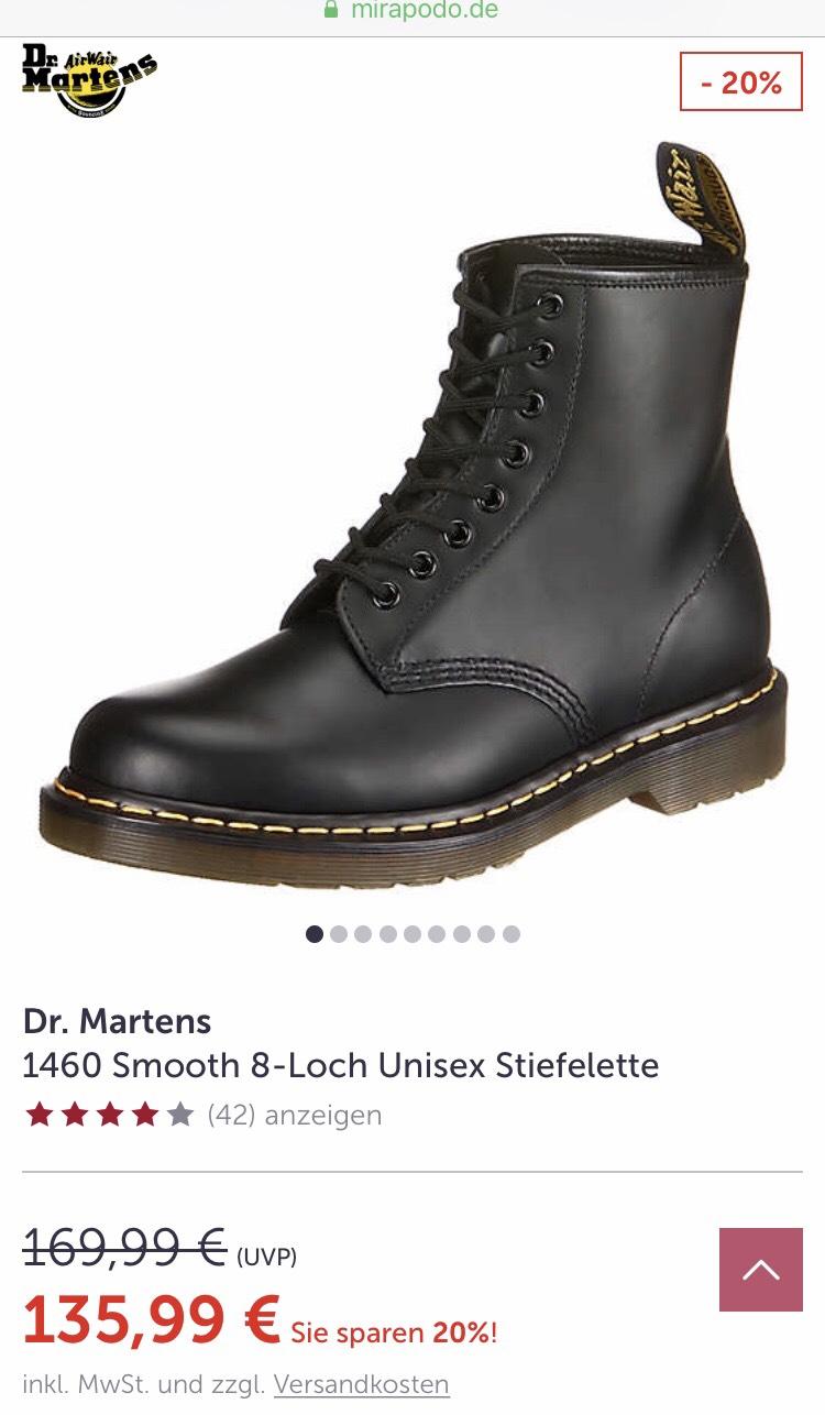 Dr. Martens 1460 Smooth für 104,94 ikl. Versand über Mirapodo App + 5% Shoop.de
