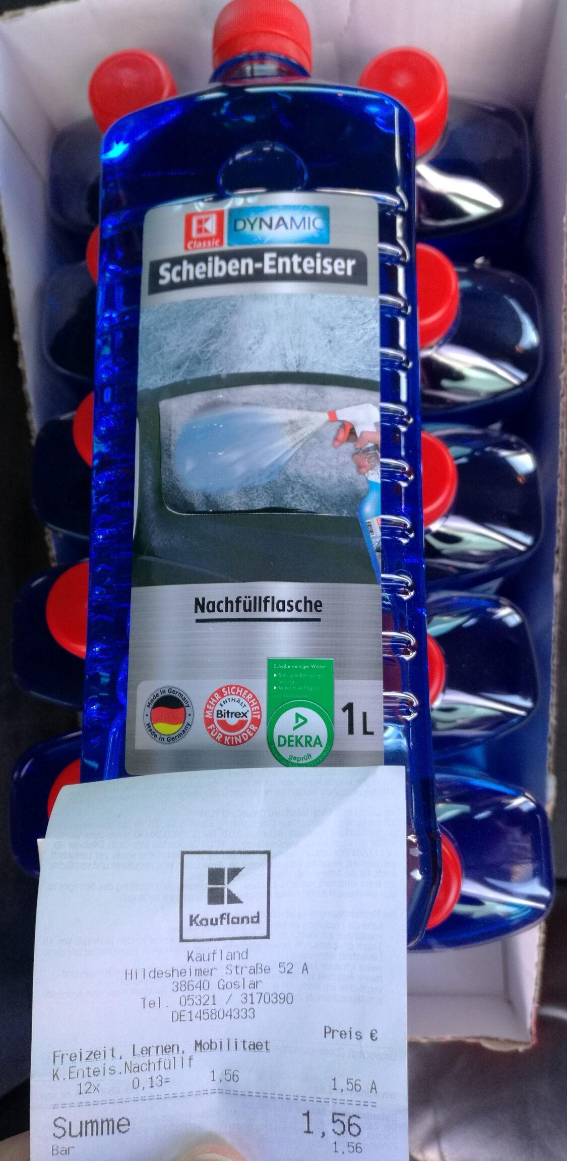 [Kaufland] K Dynamic Scheiben-Enteiser 1L Nachfüllflasche für 13 Cent