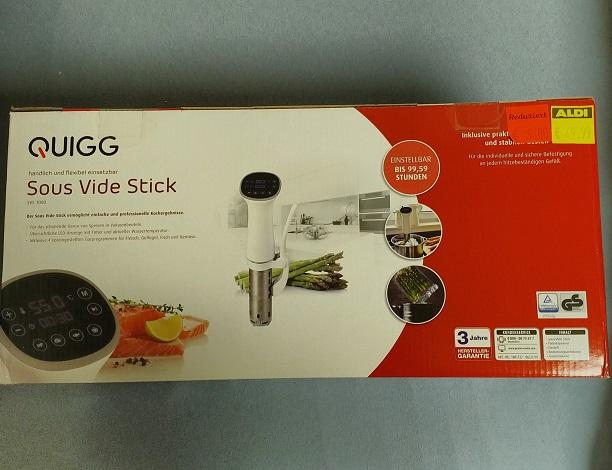 (Lokal-Aldi Wuppertal) Quigg Sous Vide Stick 1200W Touch Display für 9€