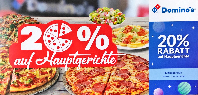Domino's 20% Rabatt auf Hauptgerichte