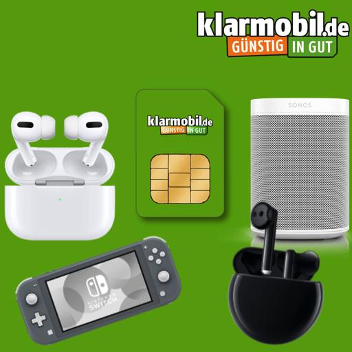 Klarmobil Allnet Flat (4GB LTE) mtl. 14,99€ + AirPods Pro (53,99€ ZZ), Nintendo Switch Lite, Sonos One SL od. Huawei FreeBuds 3 je 4,99€ ZZ