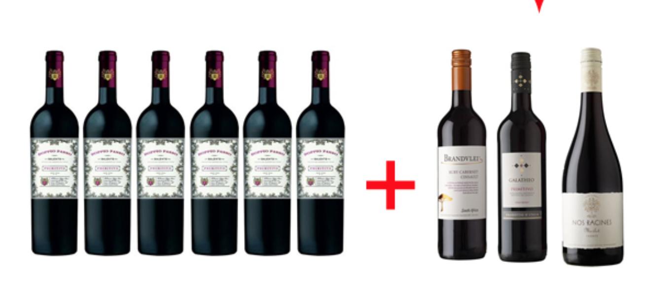 6 x Doppio Passo + 3 Flaschen Rotweinpaket = 34,95 Euro