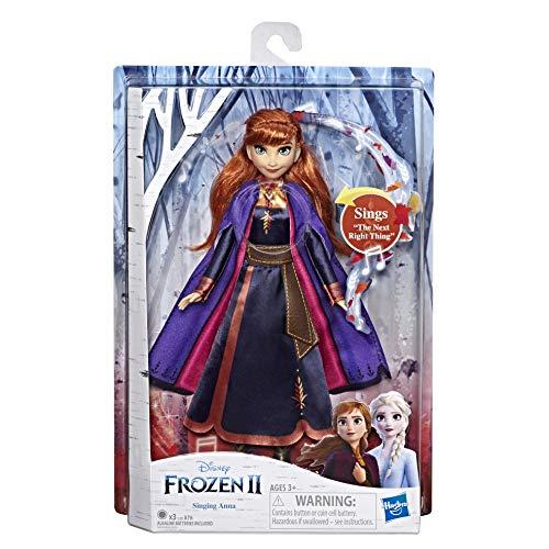 Disney Frozen II/Eiskönigin II singende Anna Spielpuppe von Hasbro, Elsa für 19,99€ zu haben