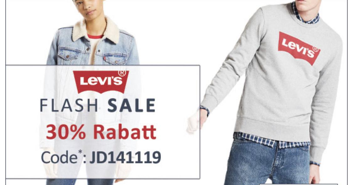 Flash Sale auf Levi's 30% Rabatt