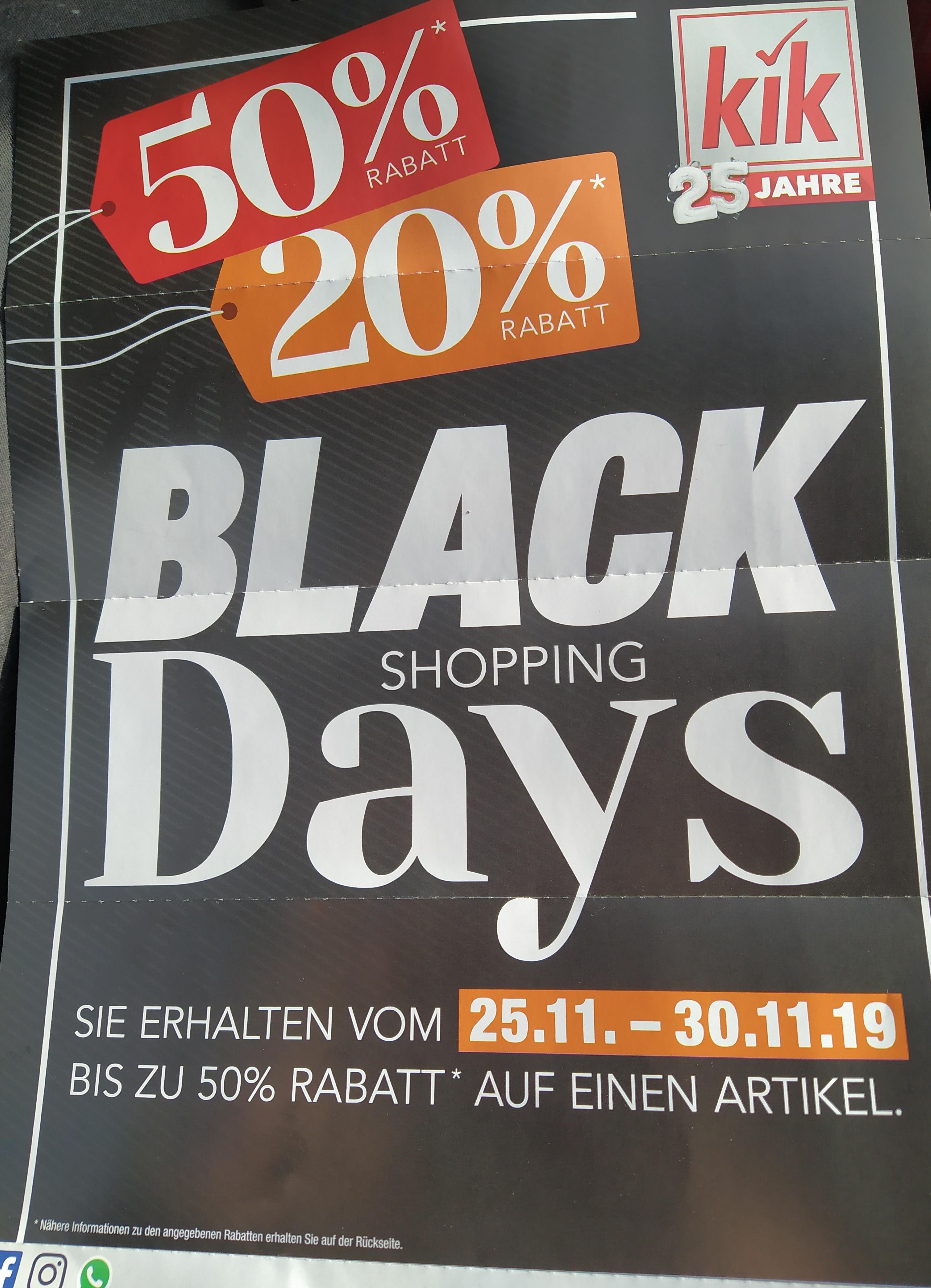 Kik feiert Geburtstag und Black Shopping Week bis 50% durch Gutscheine