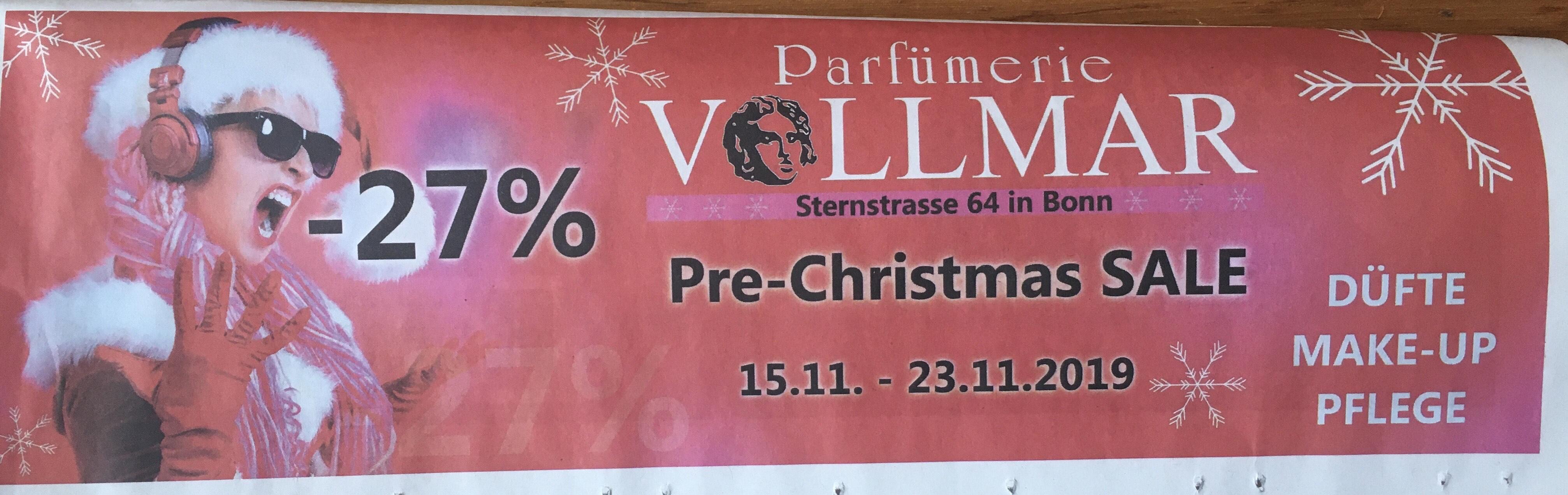 Vollmar Parfümerie -27% Lokal Bonn
