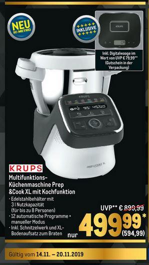 Prep&Cook XL Multifunktionsmaschine zum Kochen für bis zu 10 Personen