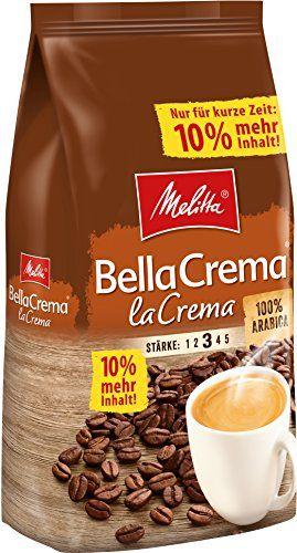 Melitta Ganze Kaffeebohnen, 100% Arabica Bella Crema LaCrema 1,1kg für 8,90€ oder 2 Packungen im Abo für 15,13€ @ Amazon