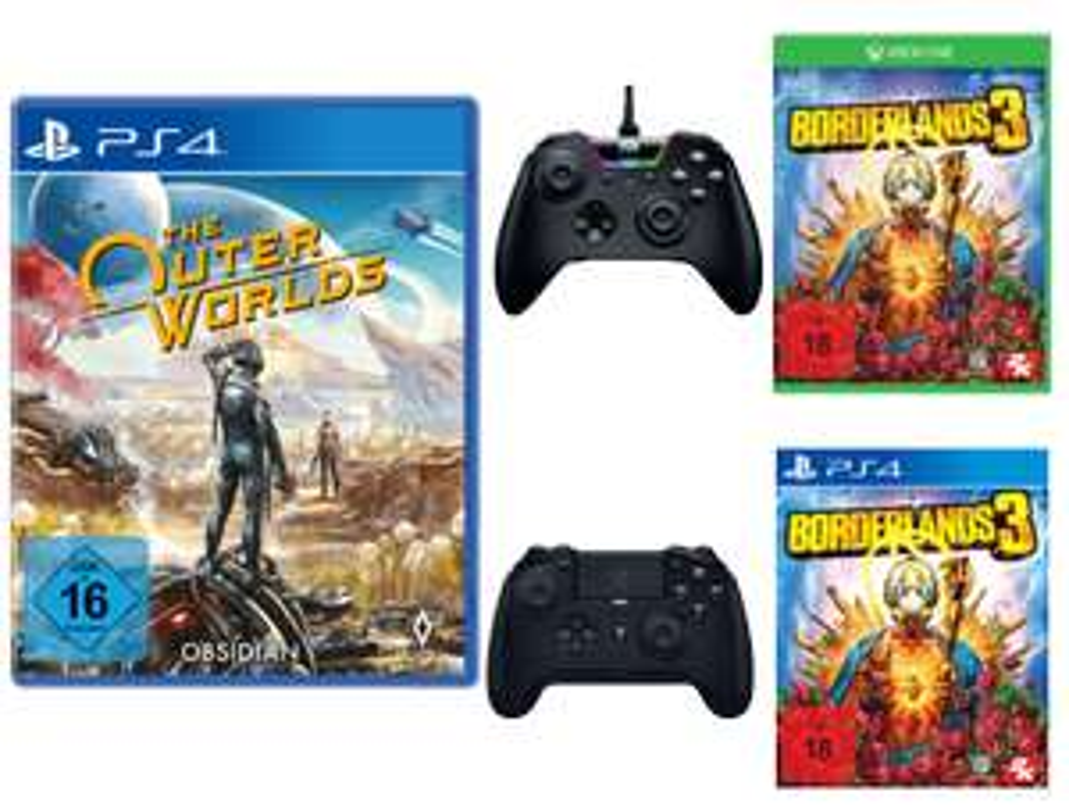 EWD Gaming: z.B. 2x The Outer Worlds - 59€ | Razer Wolverine Tournament Edition + Borderlands 3 [One] - 99€ | mit Razer Raiju [PS4] - 109€