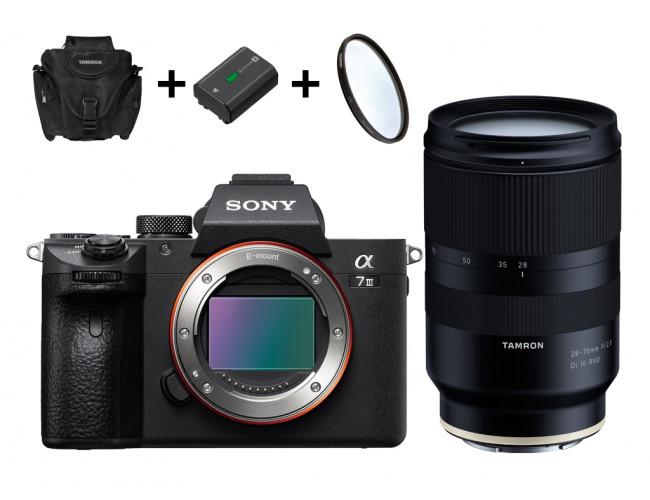 Sony alpha 7 III 300€ Cashback inkl. Tamron 28-75mm für 2489€ oder Body 1899€ inkl. 2. Sony Akku, 5 Jahre Pannenschutz, Tasche und Filter