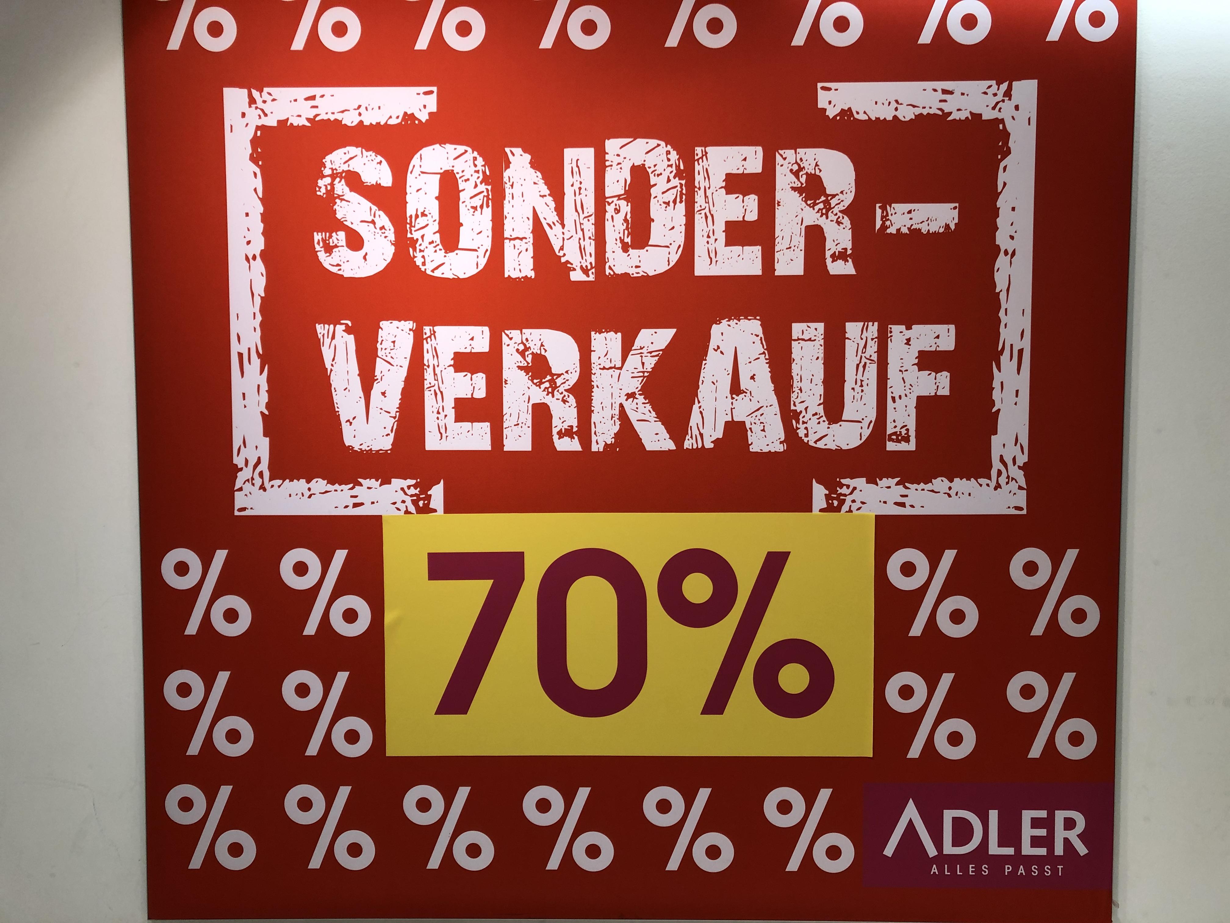 [München] Adler Mode Elisenhof - Sonderverkauf 70% Rabatt (Lokal)
