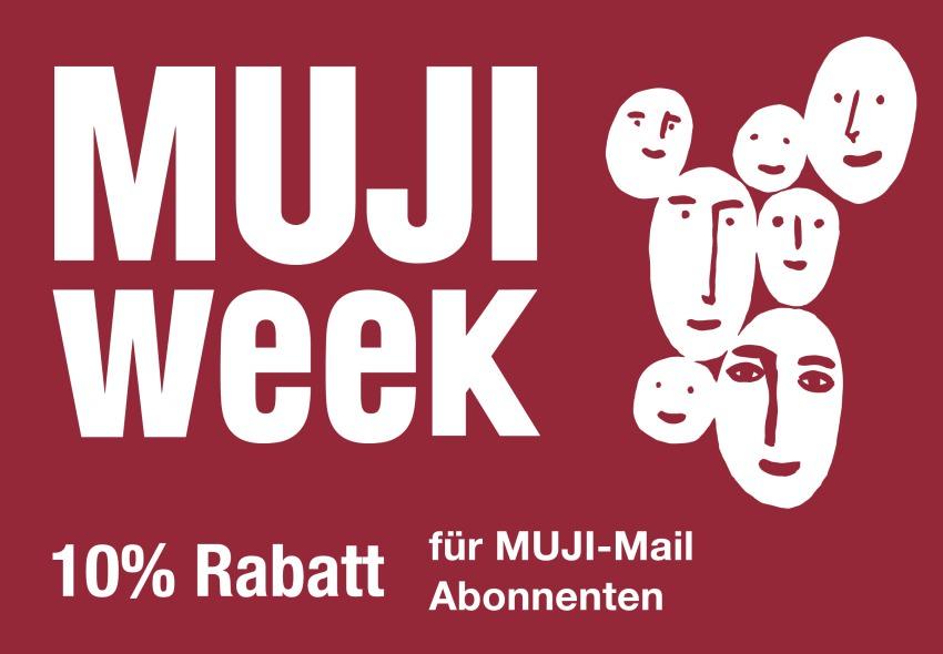 MUJI Week - 10% Rabatt auf alle Artikel