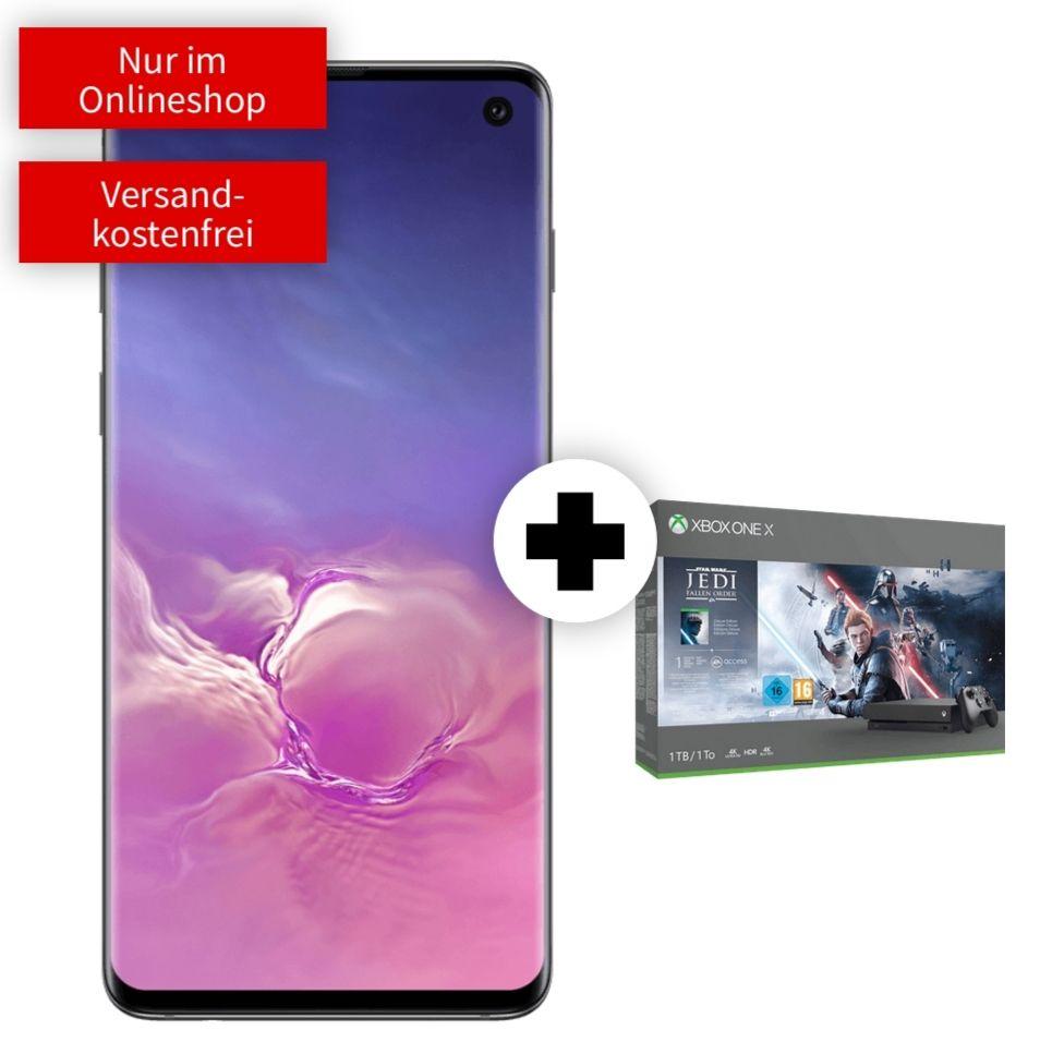 [O2 DSL Kombivorteil] Samsung Galaxy S10 und Xbox One X Star Wars im O2 Free L (30GB LTE) mtl. 29,99€ einm. 99€