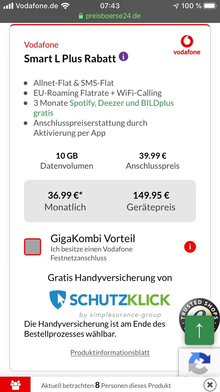 iPhone 11 64GB mit Vodafone Vertrag