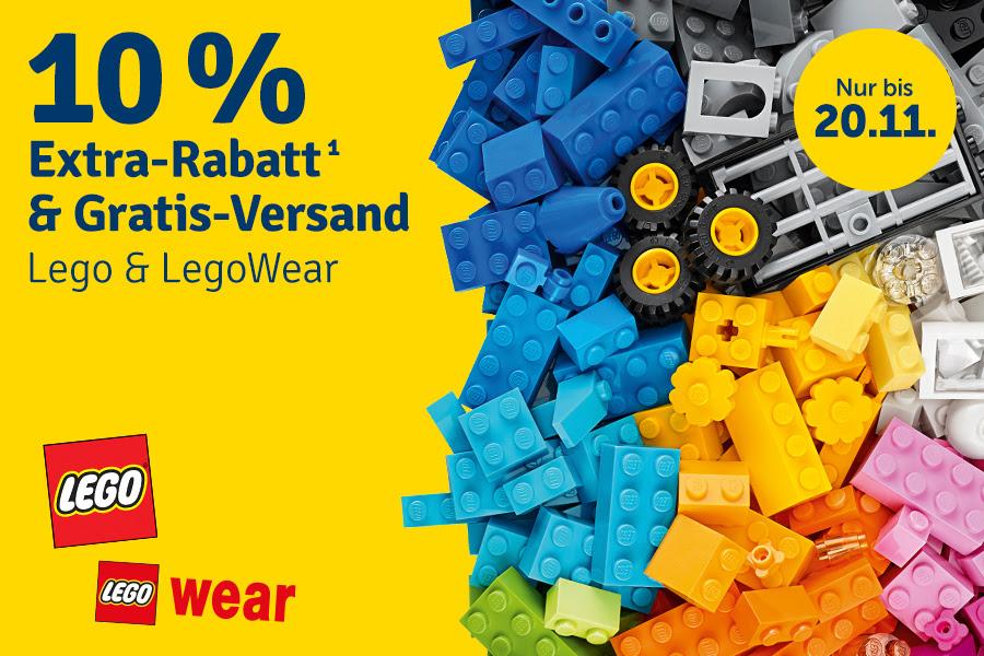 [myToys] 10% Extra-Rabatt + Gratis-Versand auf LEGO & LEGO Wear MBW 10€