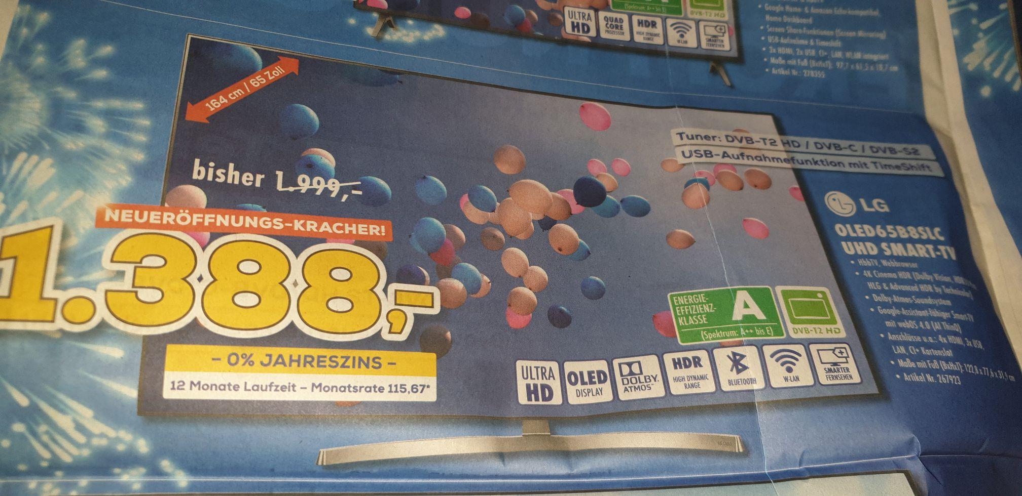 65 Zoll OLED TV LG 65B8SLC Berlet Neheim ( Lokal ? ) Tiefstpreis?