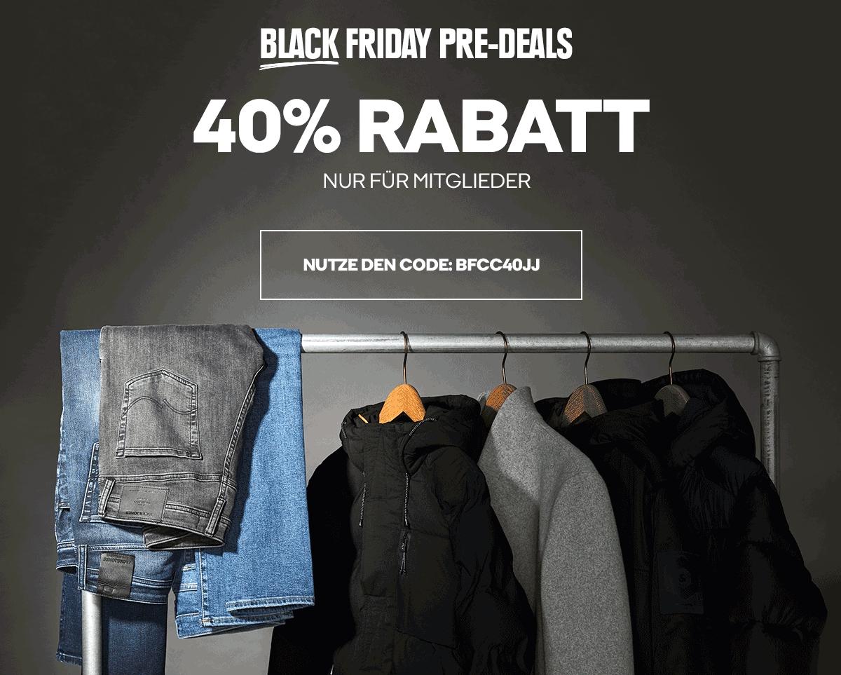 JACK&JONES Black Friday Pre-Deals | 40% Rabatt (ausgewähle Artikel) | Nur für Club-Mitglieder