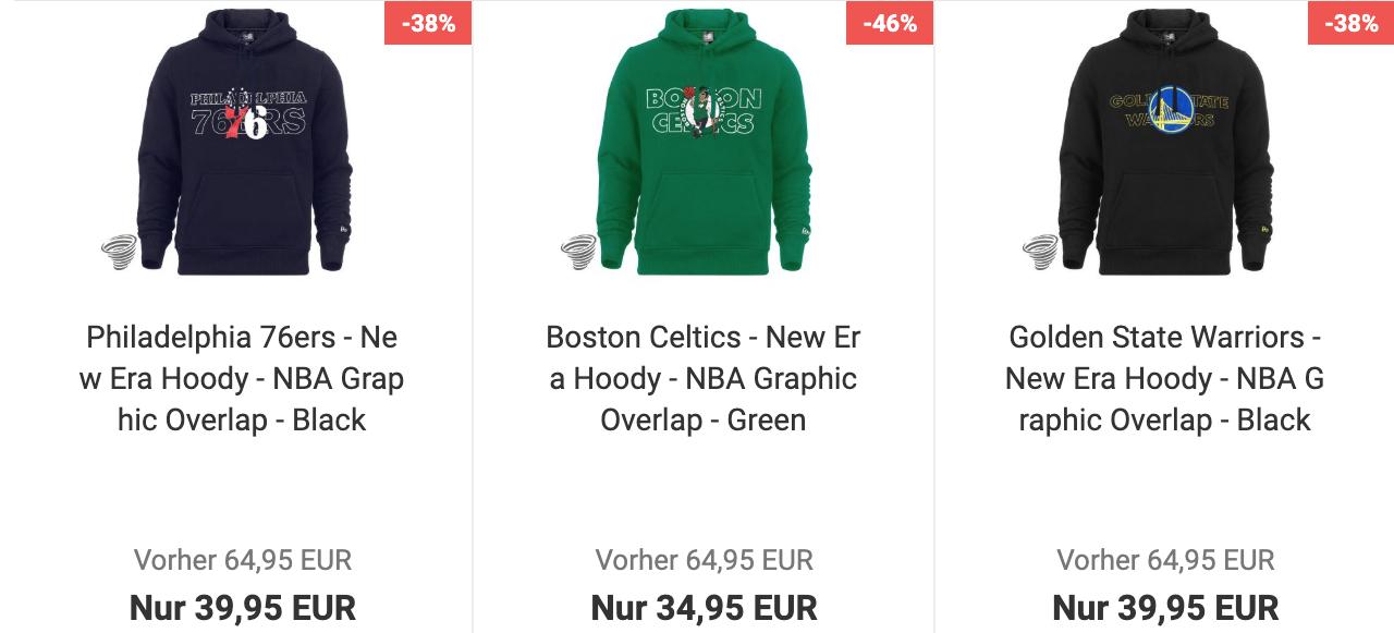 """New Era NBA """"Graphic Overlap"""" Hoodies im Sale für 38,44€/43,44€"""