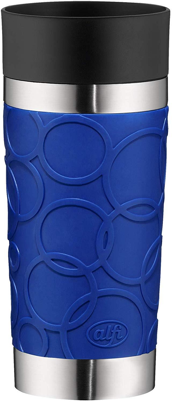 alfi Isoliertrinkbecher isoMug Plus Soft, Edelstahl Royal Blue 0,35 l, Spülmaschinenfest, doppelwandig für 9,99€ (Müller)