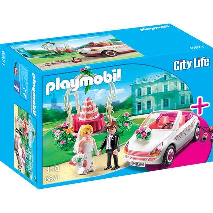 PLAYMOBIL® City Life Starter Set Hochzeit 10,41€ & City Action Polizei-Truck mit Speedboot 19,54€ & City Life Eiswagen 16,99€