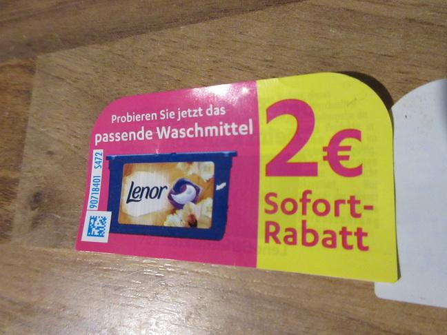 Lenor - Gutschein Coupon Waschmittel -2 Euro
