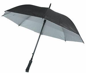 (eBay) Regenschirm mit Beleuchtung Taschenlampe NEU 180 Grad schwenkbar LED Licht Ø60cm