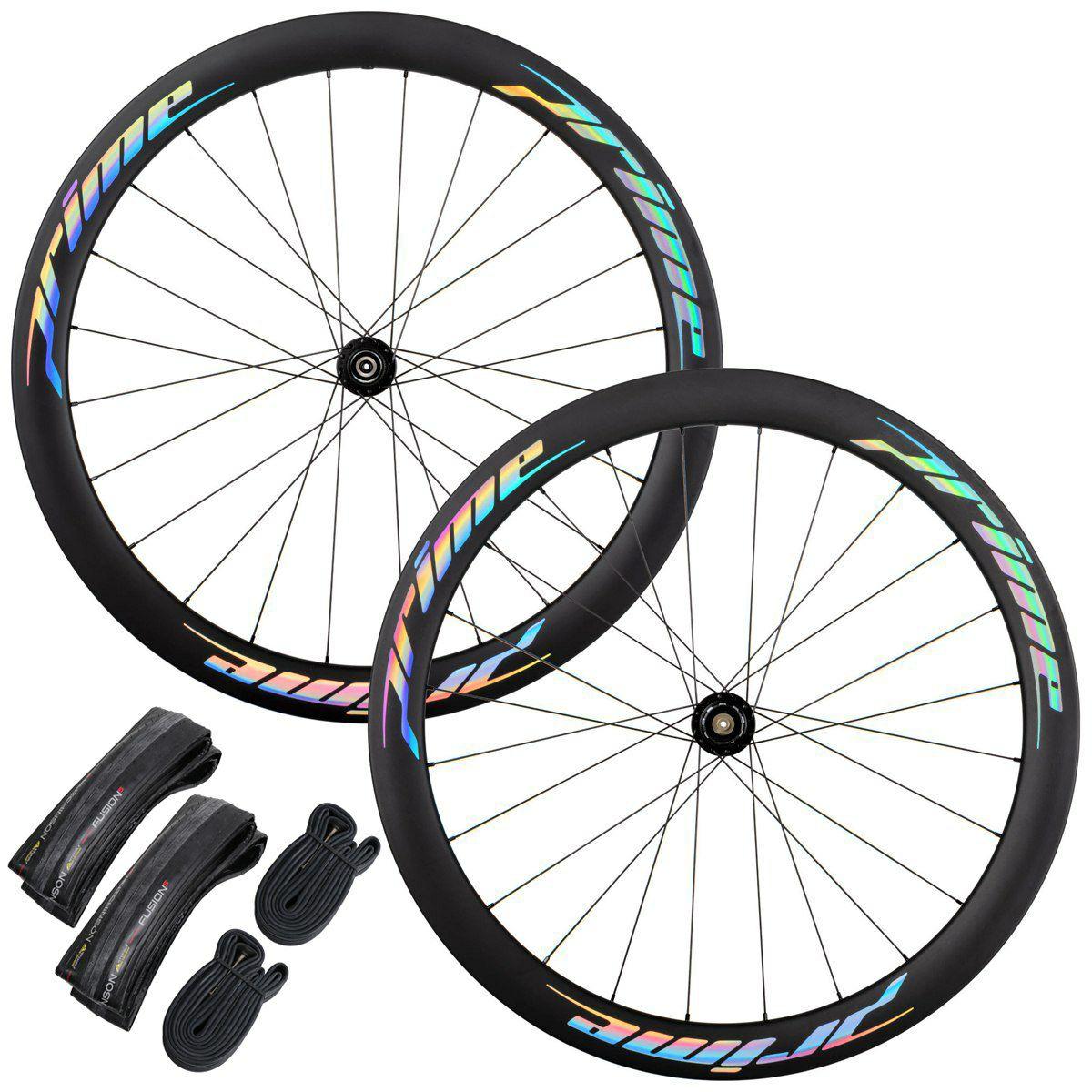Prime RR-50 SE Carbon Disc Laufradsatz - Centerlock Inkl. Hutchinson Fusion 5 Reifen und Schläuchen