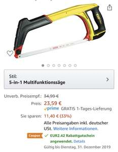 Stanley FatMax 5-in-1 Multifunktionssäge 430mm 0-20-108 bei Amazon