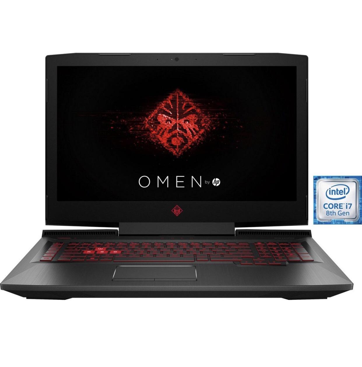 HP 17-an106ng Notebook (43,9 cm/17,3 Zoll, GTX 1070, i7-8750H, IPS, 120hz, 1000 GB HDD, 256 GB SSD)