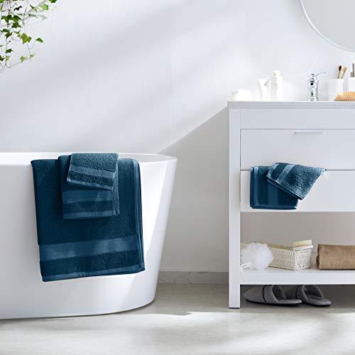 [Amazon Prime] AmazonBasics - 2 Badetücher, 2 Handtücher und 2 Waschlappen