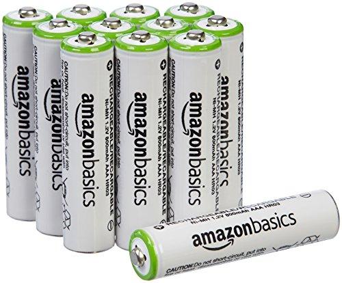AmazonBasics - 12x AAA-Akkus 800mAh für 10,39€, 16x AA-Akku 2000 mAh für 18,39€ o. 24x AA-Batterien 2000mAh für 26,39€ [Amazon Prime]