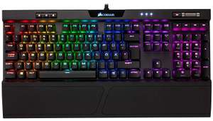 Corsair K70 RGB MK.2 Mechanische Gaming Tastatur, Cherry MX Red, QWERTZ DE Layout | schwarz