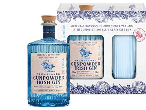 Drumshanbo Gunpowder Irish Gin (0,5l 43%) + Glas mit [Amazon Prime] für