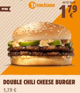Double Chili Cheese Burger für 1,79€ [MyBK Burger King App]