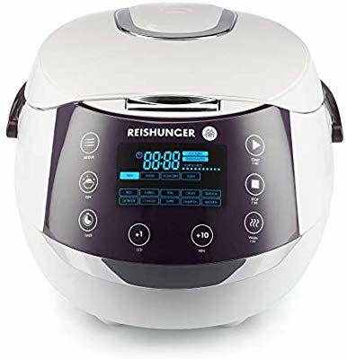 Reishunger digitaler Reiskocher (1,5l) für bis zu 8 Personen, Multikocher mit 12 Programmen für 87,49 mit Coupon