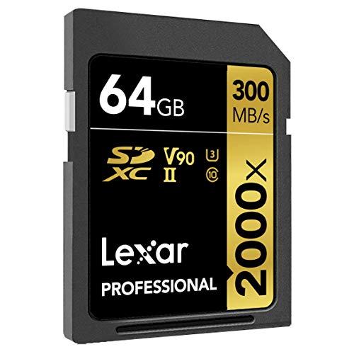 Lexar Professional 2000x 64GB Speicher SDXC UHS-II bis 300 MB/s 32GB & 128GB auch erhältlich