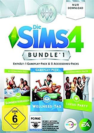 Sims 4 Bundle: Wellness-Tag Sonnenterassen Luxus-Party